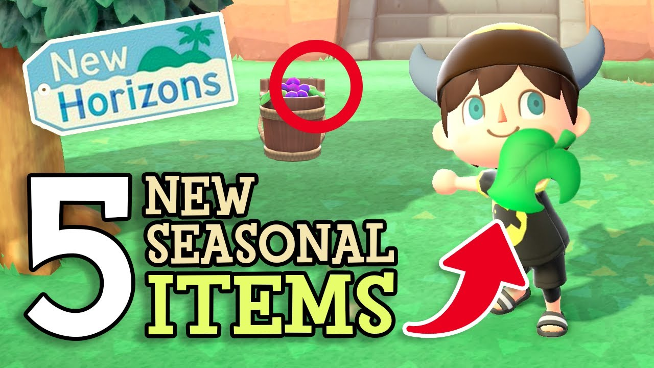 Animal Crossing New Horizons: 5 NEW SEASONAL ITEMS REVEALED (Upcoming Exclusive Event Items) Wave 2