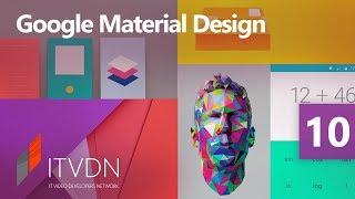 Google Material Design для WPF разработчика. Урок 10. Меню и панель инструментов