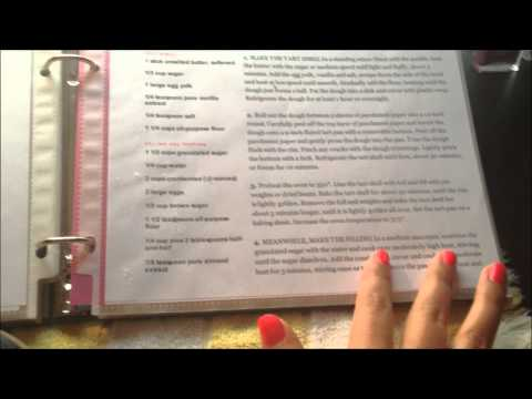 ASMR whispered recipe book show and tell