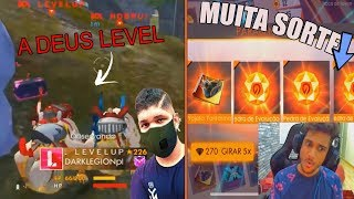 L E V E L UP CAI DE BOCÃO NA MINA DO BLACK444, EL GATO BUGA O SORTE ROYALE. FREE FIRE