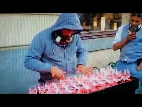 Best Crystalware Musician Ever Plays Habanera Not Mozart With Wine Glasses