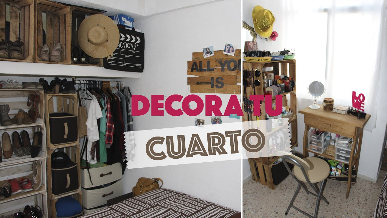 Decora una habitaci n peque a usando huacales d for Ideas para decorar mi recamara