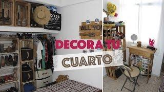 Decora una habitación pequeña usando huacales :D | #ViernesconKarla