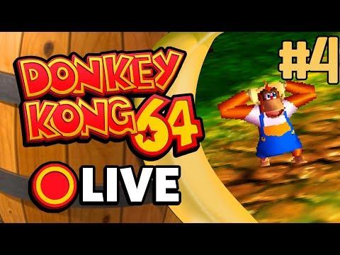 LET'S PLAY DONKEY KONG 64 LIVE #4 W/ ORIGINAL151! [CUSTOM EMOJIS FOR SPONSORS!]