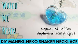 Watch Me Resin - Maneki-Neko (Lucky Cat) Shaker Necklace -Sophie And Toffee September 2018 Elves Box