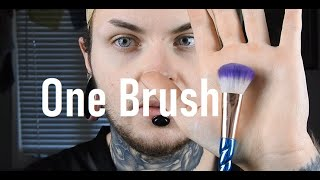 Full Face with ONE Brush Makeup Challenge