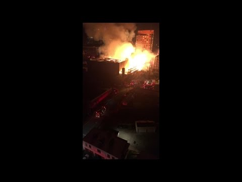 Downtown Raleigh fire video by Matthew O'Connor