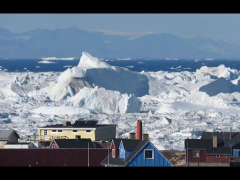 Ilulissat Icefiord lets its huge icebergs get free - Timelapse