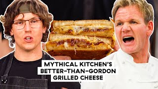Mythical Kitchen&#39s Chef Josh Makes His Official Better-Than-Gordon-Ramsay Grilled Cheese  Delish