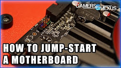 How to Jump A Motherboard Without Power Button