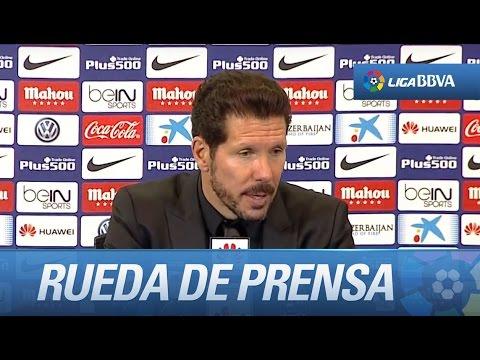 Rueda de prensa de Simeone tras el Atlético de Madrid (1-0) RCD Espanyol