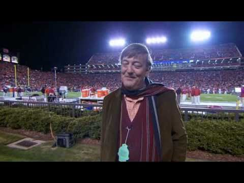 Stephen Fry's reaction to a college football game at Alabama