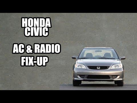 2004 Honda Civic EX Fix-up AC & radio unlock.