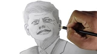 How to draw John F Kennedy - Pencil drawing