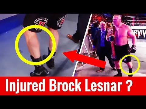 Brock Lesnar Injured During Aj Styles Vs Brock Lesnar At Survivor Series 2017 | Wrestle Chatter