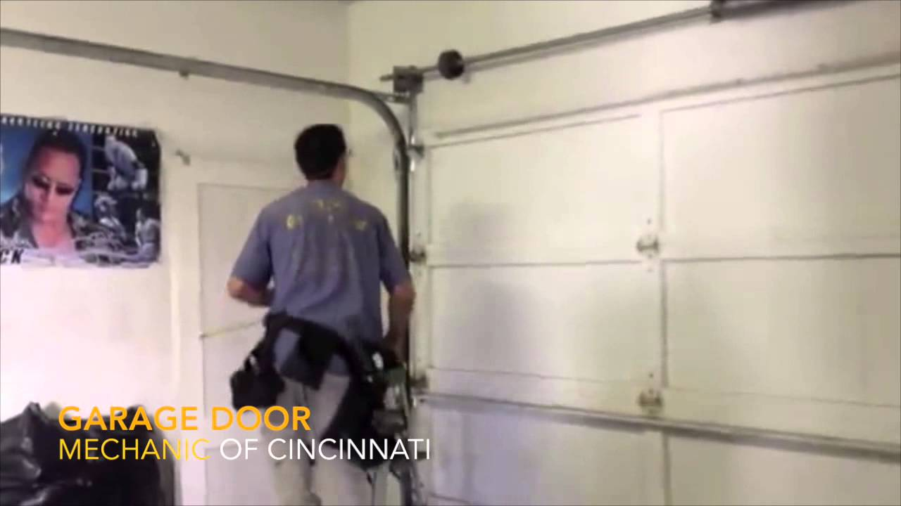 Garage Door Mechanic Spring Replacement Cincinnati Youtube