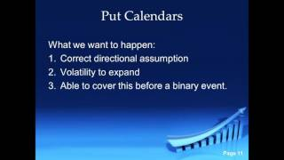 """A Great Option Strategy:  Long Put Calendars With Eric """"The Wolfman"""" Wilkinson"""