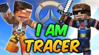 Minecraft OVERWATCH Anniversary! TRACER + WINSTON + MERCY Team-Up! (Minecraft Bed Wars Roleplay)