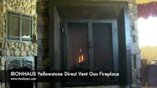 Yellowstone Direct Vent Gas Fireplace Burn Video