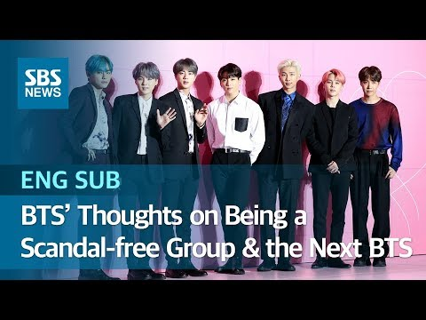 BTS' Thoughts on Being a Scandal-free Group & 'the Next BTS' (ENG SUB) / SBS