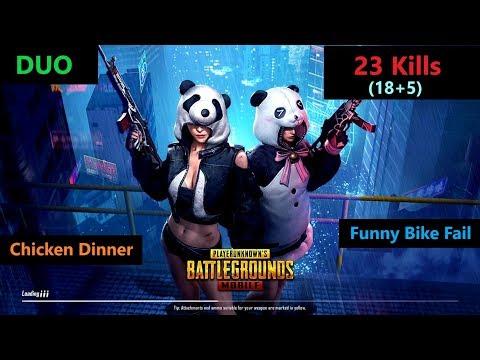 "[Hindi] PUBG Mobile | "" Kills"" Amazing Duo Match & Funny Bike Fails"