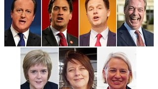 UK Elections 2015  A unique 7 way free for all Debate inc  Cameron, Miliband & Farage