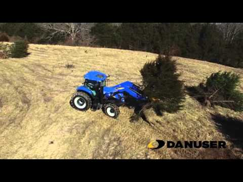 Danuser Intimidator on New Holland Tractor with Euro/Global Quick Attach
