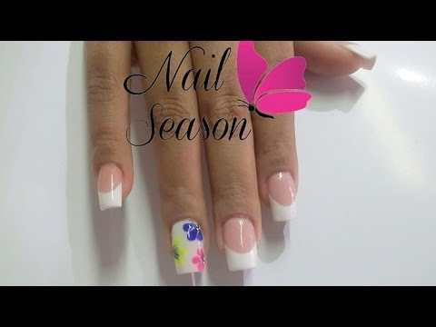 diy acrylic nails easy 3d flowers