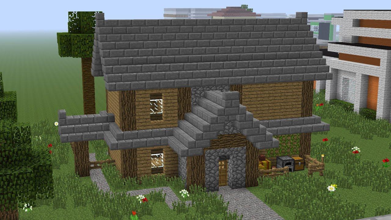 Minecraft House Tutorial 2 Average Sized Wooden