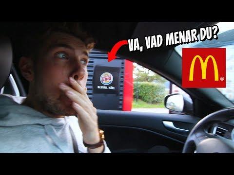 SPELAR MCDONALDS ROULETTE I SVERIGE!! *DRIVE THRU*