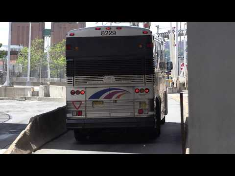 NJ TRANSIT MCI D4500 BUS 8229 ON THE 137 TOMS RIVER PARKWAY EXPRESS AT THE PABT