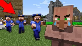 МЕНЯ РАЗЫСКИВАЕТ ПОЛИЦИЯ ПО ВСЕЙ ДЕРЕВНЕ ЖИТЕЛЕЙ В МАЙНКРАФТ 100 ТРОЛЛИНГ ЛОВУШКА Minecraft