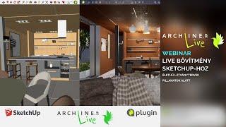 ARCHLine.XP LIVE bővítmény SketchUp-hoz – élethű látványtervek pillanatok alatt