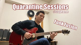 "【Fusion Guitar Soloing #1】Funk Fusion Soloing ""C7""【Quarantine Sessions】"