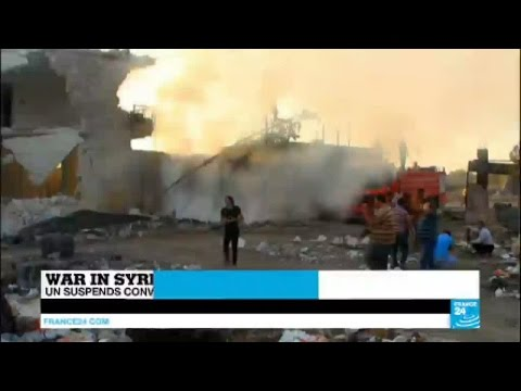 Syria: UN suspends humanitarian aid convoys after deadly air strikes