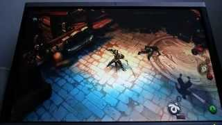 Dungeon hunter 5 gameplay w/ ps3 controller on pc screen