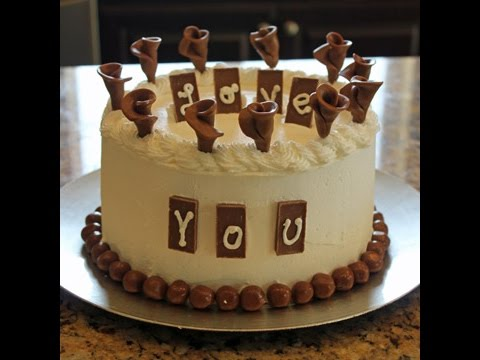 Decorate A Chocolate Birthday Cake In Minutes Youtube