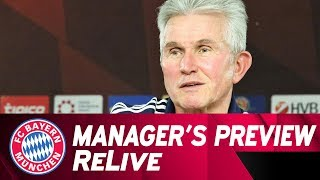 FC Bayern Manager's Preview w/ Jupp Heynckes ahead of Freiburg | ReLive