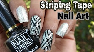 Striping Tape Nail Art Tutorial | Canvas of Nails
