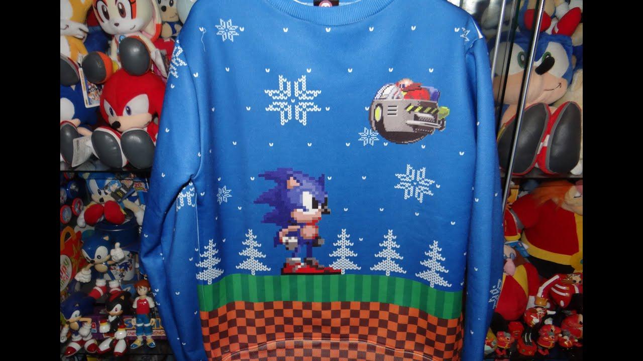 Hedgehog Christmas Jumper.Numskull Sonic Christmas Jumper Sweater Review