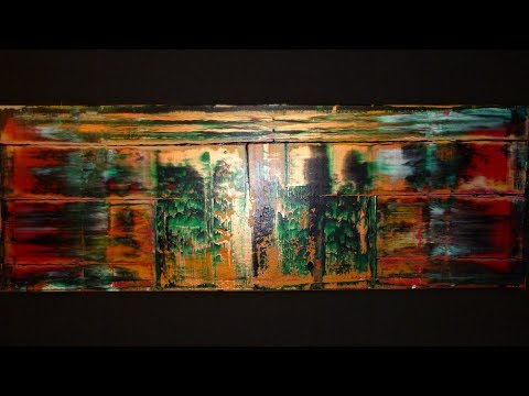 ABSTRACT ACRYLIC PAINTING * SQUEEGEE TECHNIQUE / PROJECT 130 BY JOE BAUER