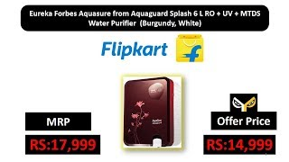 Eureka Forbes Aquasure from Aquaguard Splash 6 L RO + UV + MTDS Water Purifier (Burgundy, White)