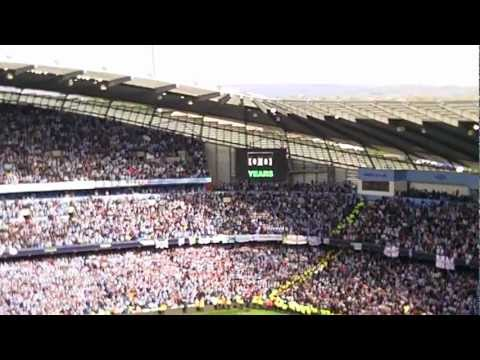 MCFC Win Premier League 2012 - Fans Sing We Are The Champions