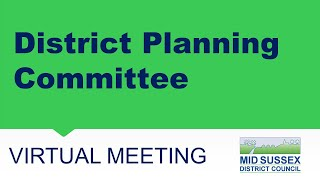 This is a meeting of the Mid Sussex District Council District Planning Committee held on 08 July...