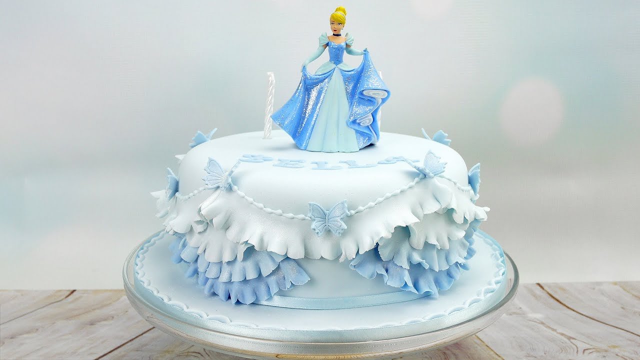 Cinderella Princess Birthday Cake YouTube