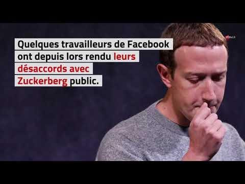 Manifestation d'employés de Facebook contre le soutien de Mark Zuckerberg à Donald Trump