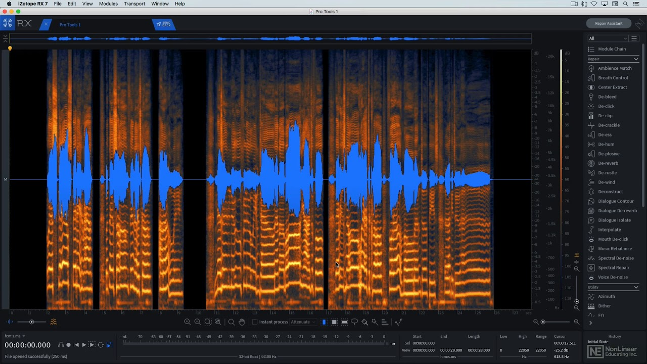 iZotope RX 7 301: RX 7 - The Unofficial Video Manual - 3  RX7 the DAW