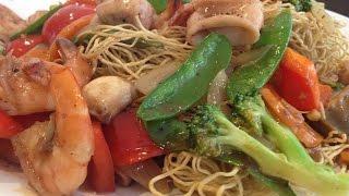 Crispy Egg Noodle With Seafood (mì Xào Giòn Đồ Biển)- Cathy Ha Vietnamese Home Cooking
