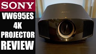 SONY VW695ES 4K PROJECTOR Review (VW570ES) Home Theater Upgrade