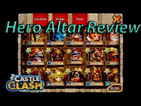Castle Clash: Hero Altar Review!
